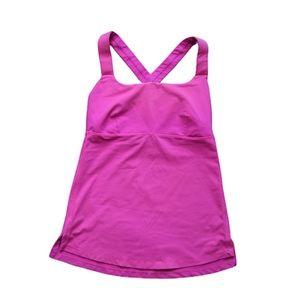 Lululemon pink cross back tank top 6